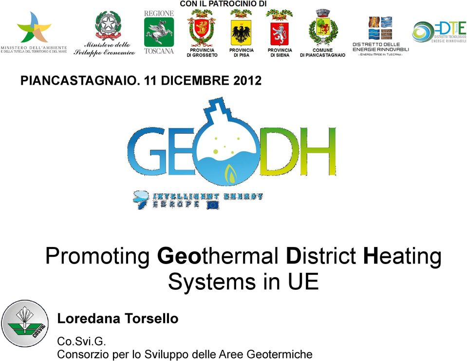 District Heating Systems in UE Loredana