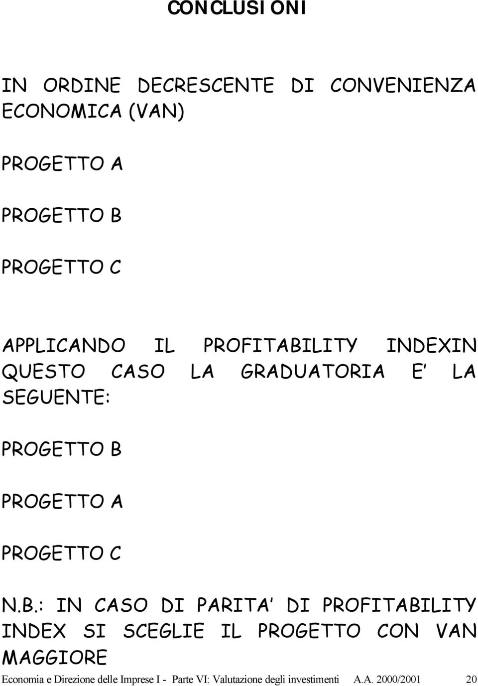 A PROGETTO C N.B.