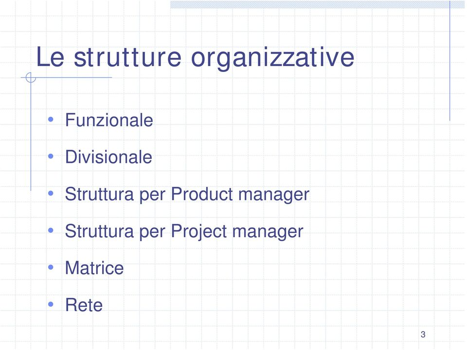 Struttura per Product manager