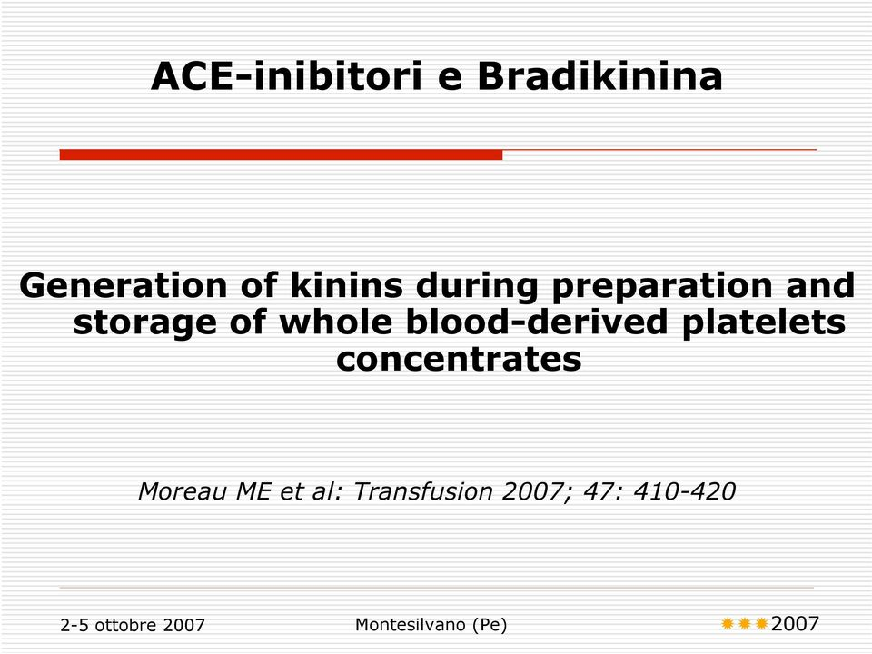 whole blood-derived platelets concentrates