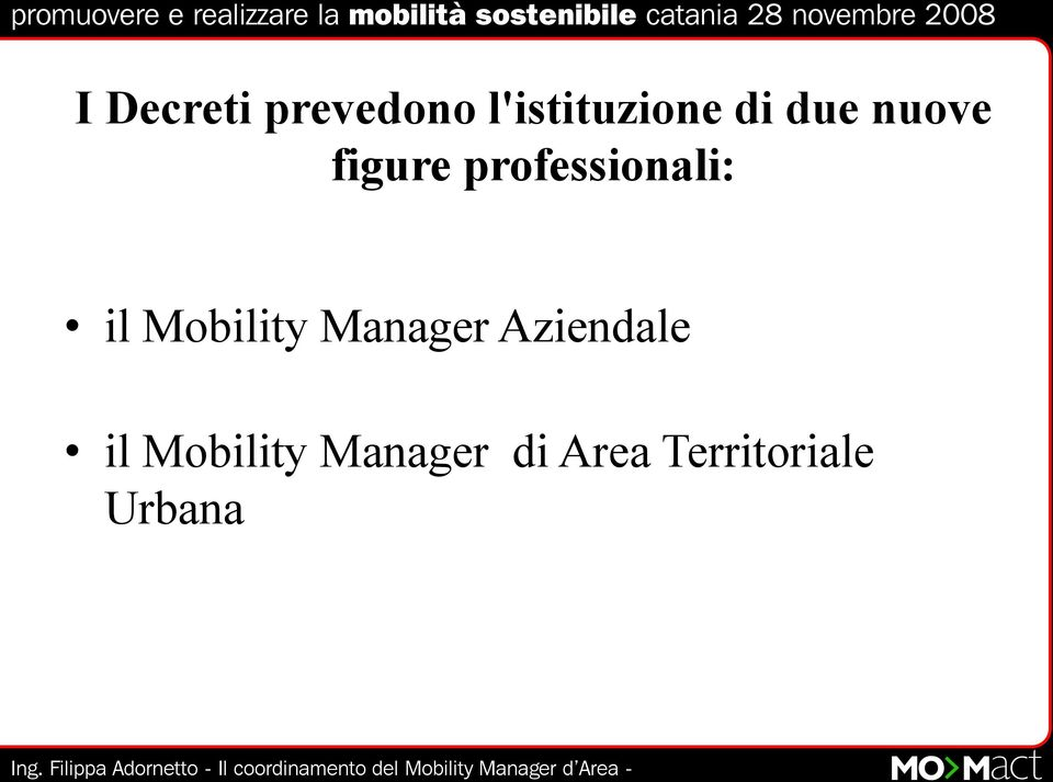 Mobility Manager Aziendale il