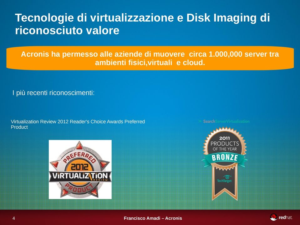 000,000 server tra ambienti fisici,virtuali e cloud.