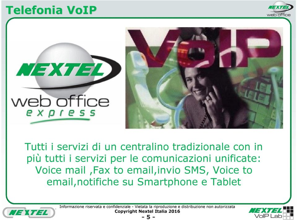 comunicazioni unificate: Voice mail,fax to