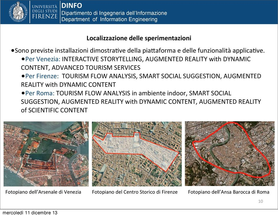 SOCIAL SUGGESTION, AUGMENTED REALITY with DYNAMIC CONTENT Per Roma: TOURISM FLOW ANALYSIS in ambiente indoor, SMART SOCIAL SUGGESTION, AUGMENTED