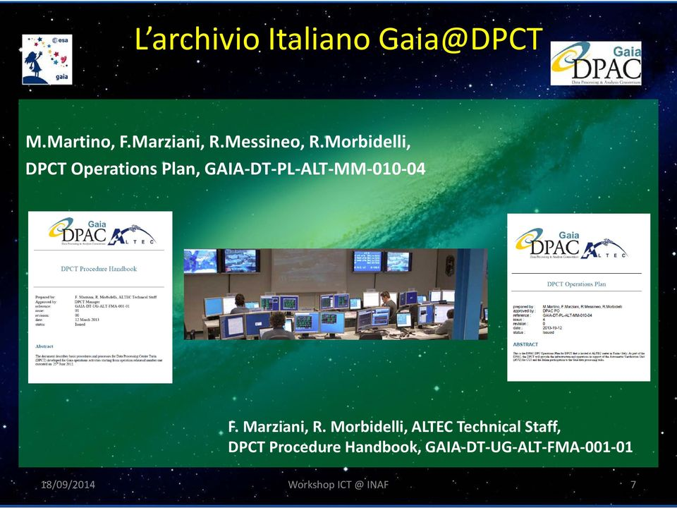 Morbidelli, DPCT Operations Plan, GAIA-DT-PL-ALT-MM-010-04 F.