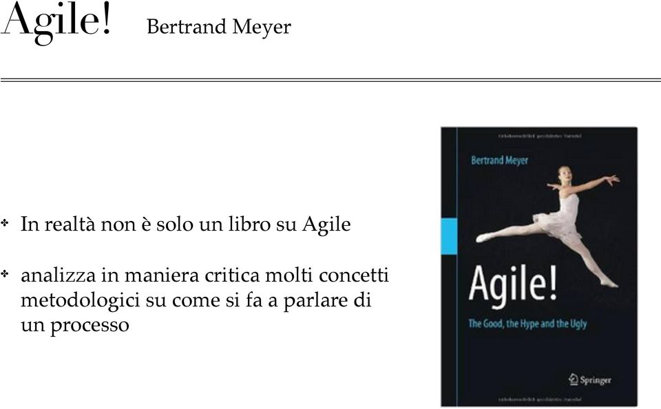 libro su Agile analizza in maniera