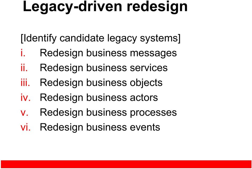 Redesign business services iii.
