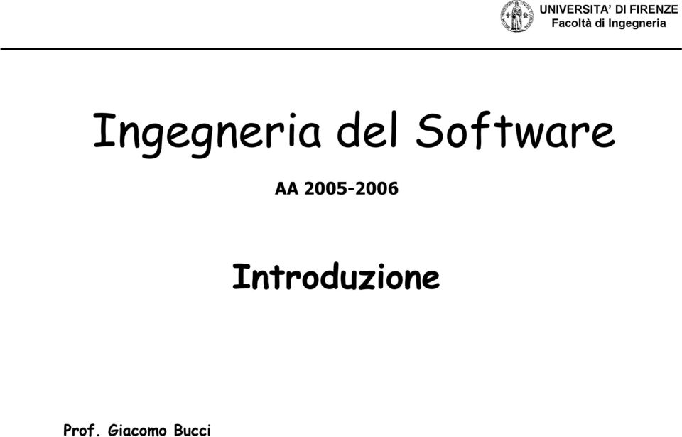 Ingegneria del Software AA