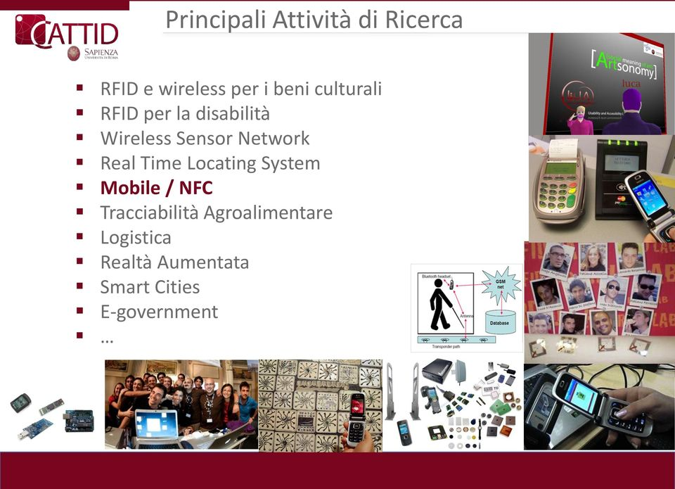 Real Time Locating System Mobile / NFC Tracciabilità