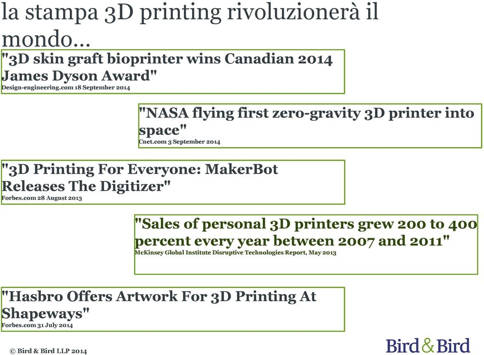 "com 3 September 2014 ""3D Printing For Everyone: MakerBot Releases The Digitizer"" Forbes."