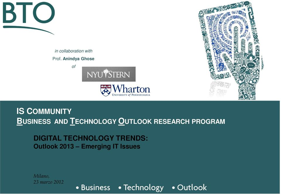 TECHNOLOGY OUTLOOK RESEARCH PROGRAM DIGITAL