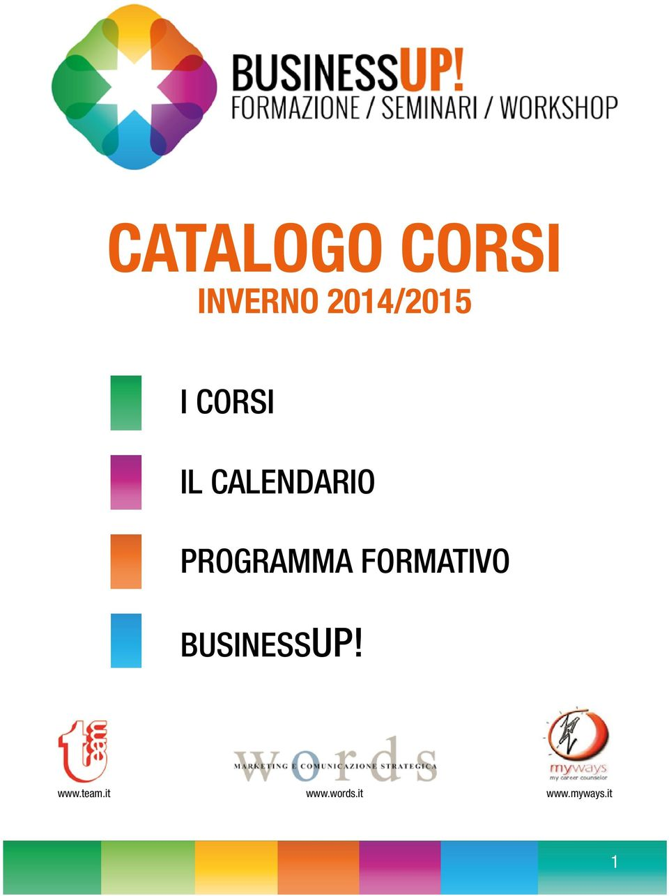 PROGRAMMA FORMATIVO BUSINESSUP!