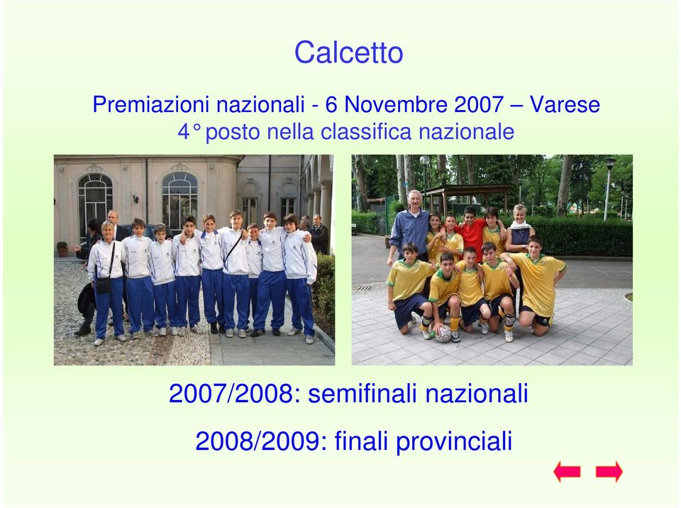 classifica nazionale 2007/2008: