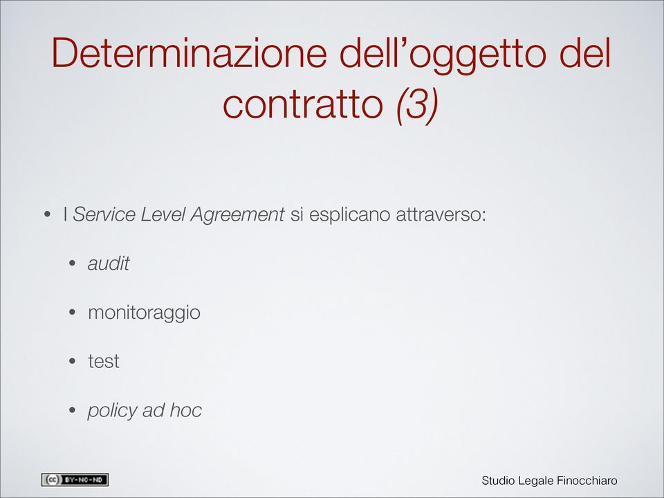 Agreement si esplicano