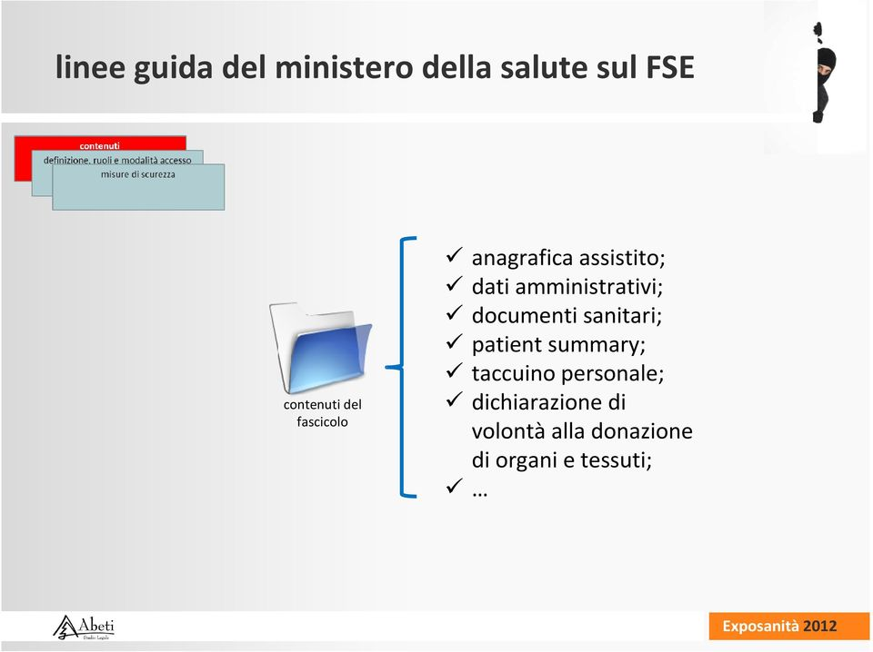 documenti sanitari; patient summary; taccuino personale;