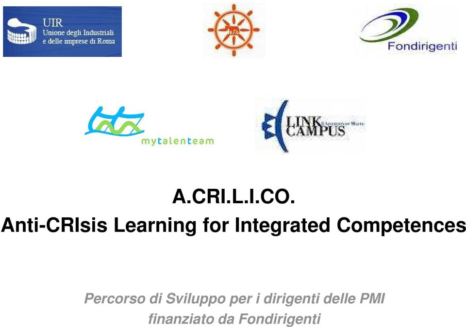 Integrated Competences Percorso
