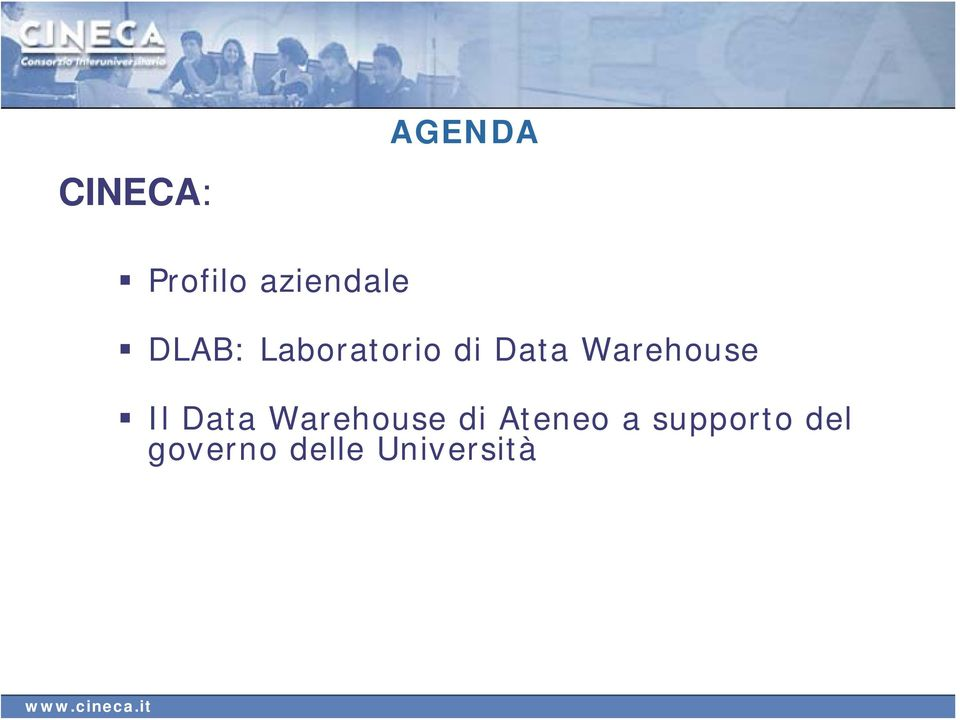 Warehouse Il Data Warehouse di