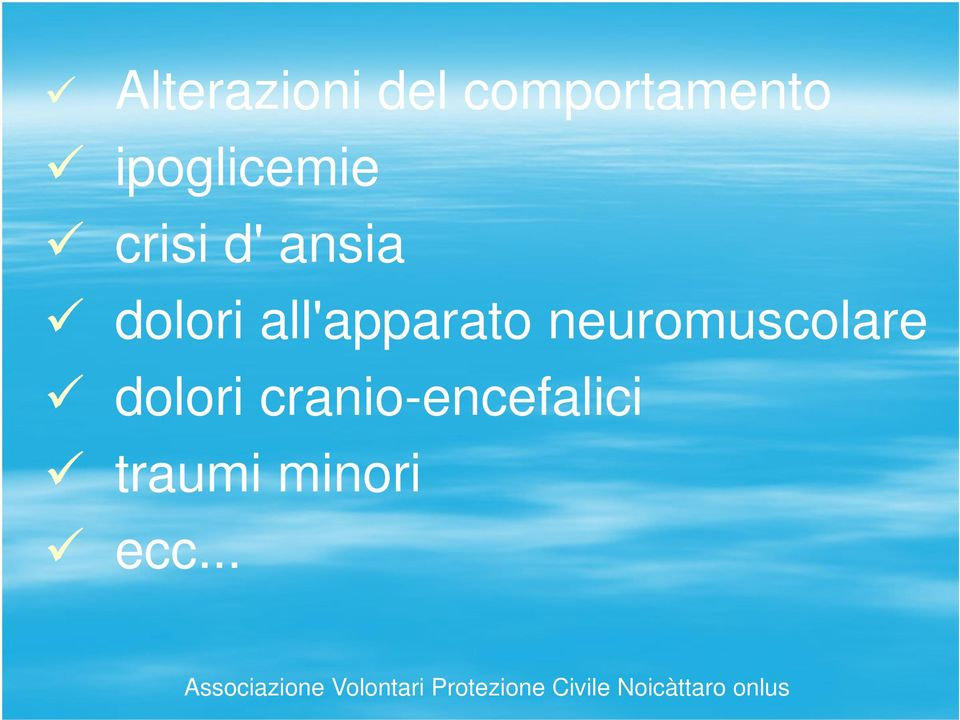 all'apparato neuromuscolare dolori