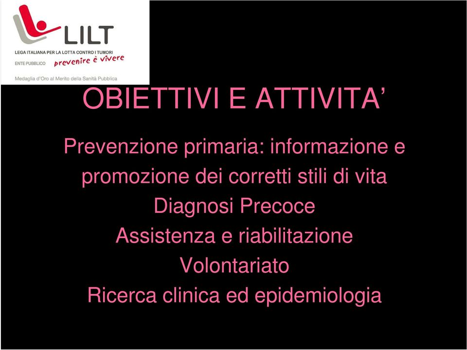 di vita Diagnosi Precoce Assistenza e