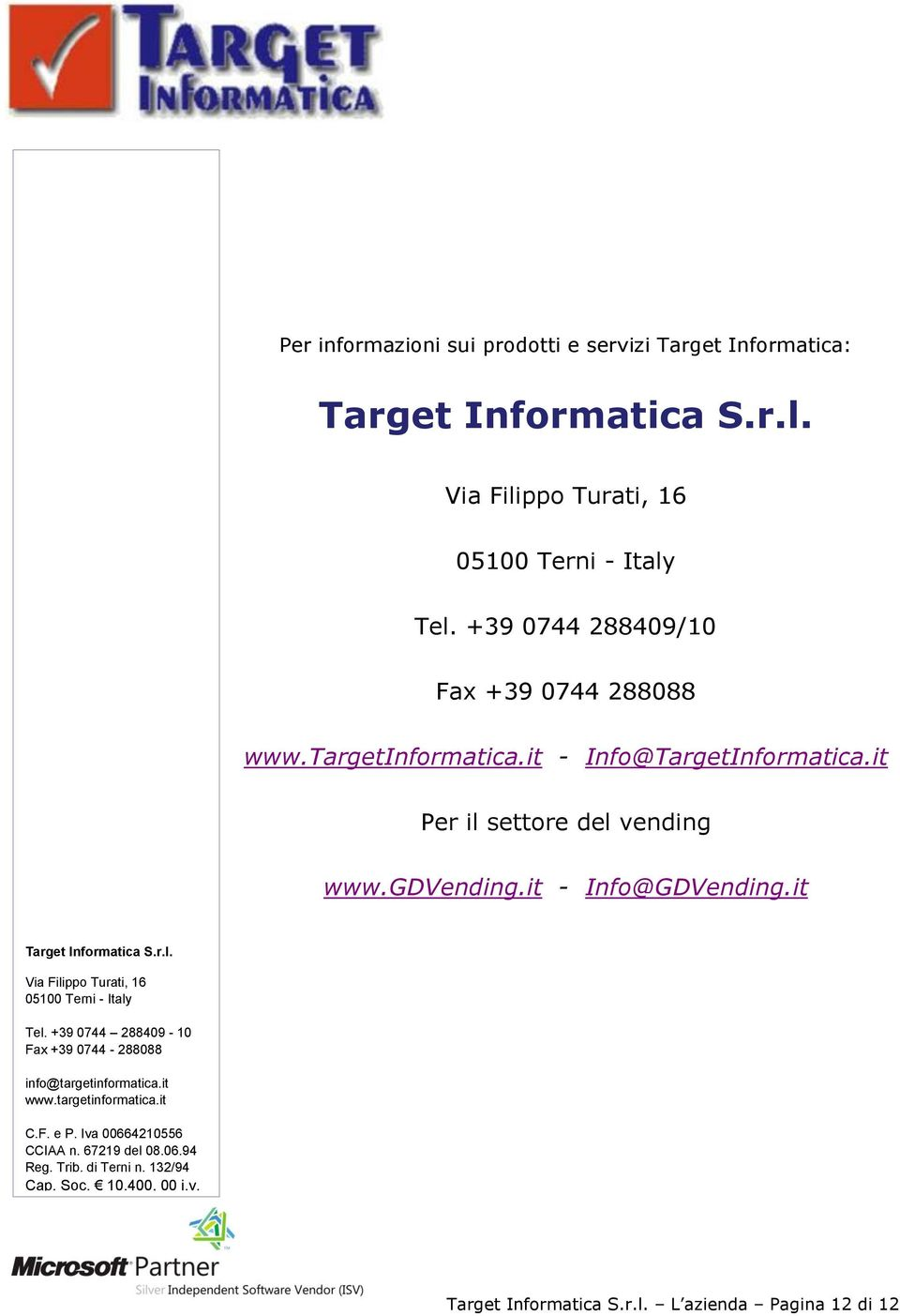targetinformatica.it - Info@TargetInformatica.