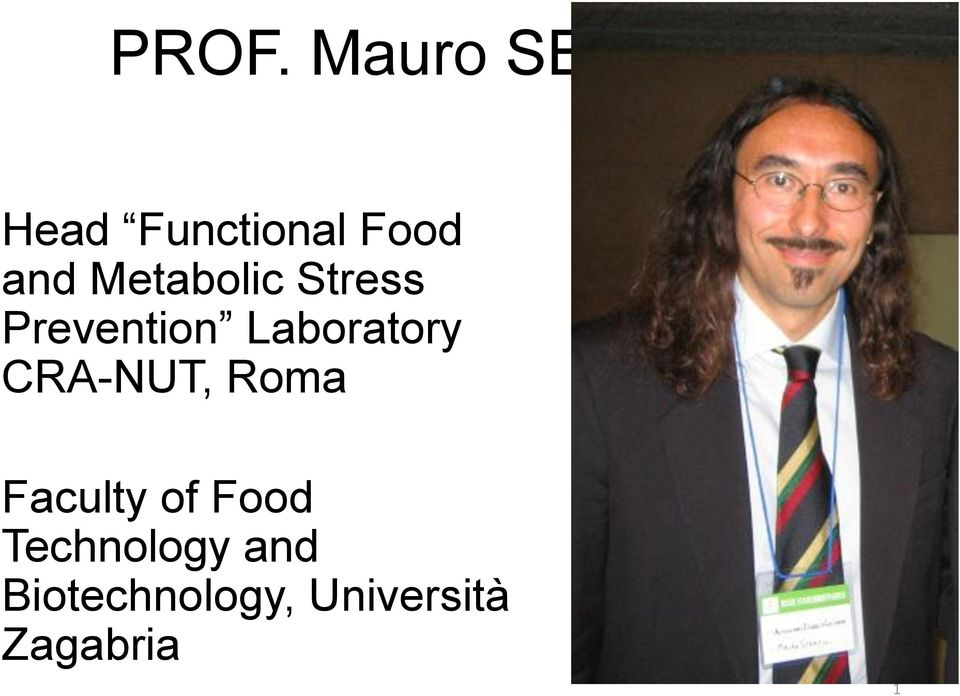 Laboratory CRA-NUT, Roma Faculty of Food