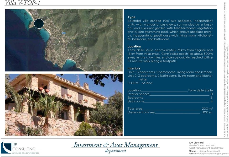 Location Torre delle Stelle, approximately 35km from Cagliari and 18km from Villasimius.
