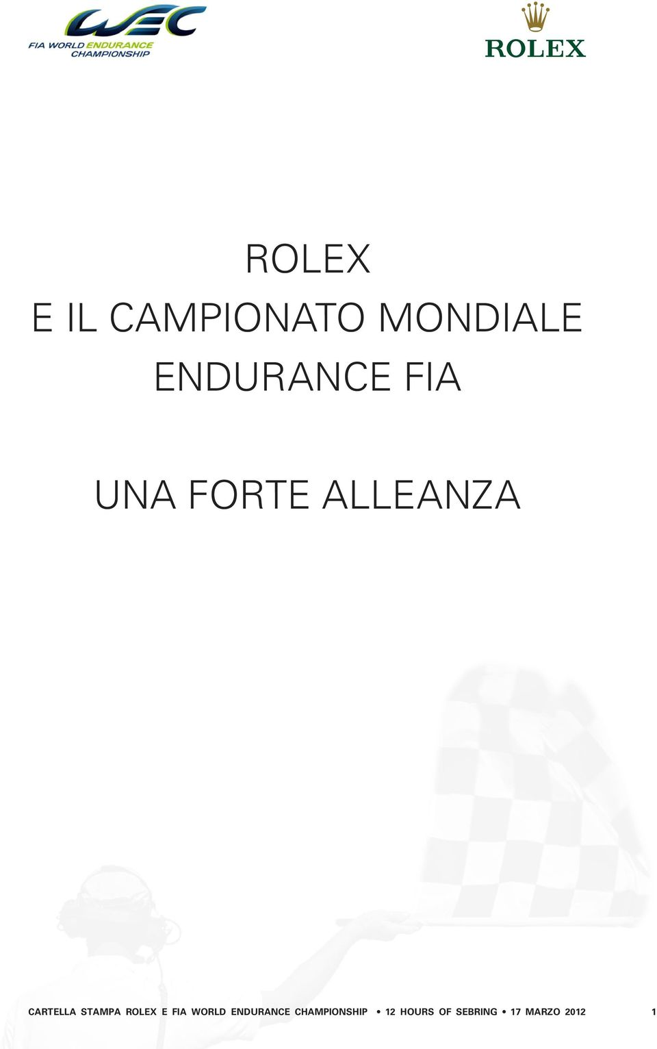 Cartella Stampa Rolex e FIA World
