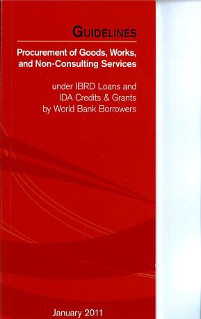 - Procurement Guidelines (Gennaio 2011) for goods and Works & non consulting services - Introduction - International competitive bidding - Other Methods of Procurement -