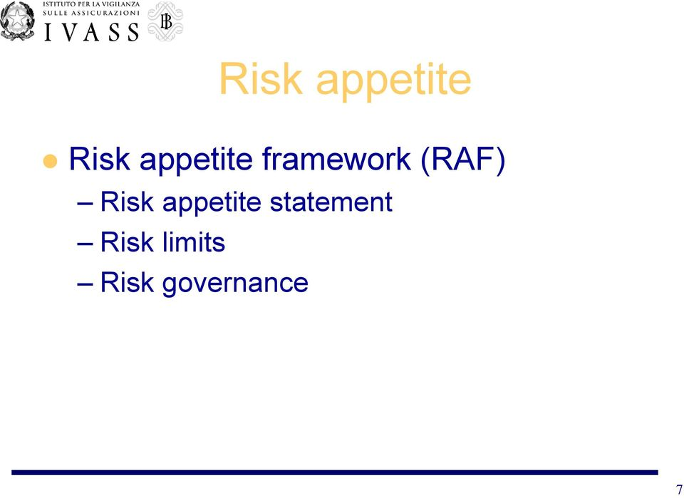 Risk appetite statement