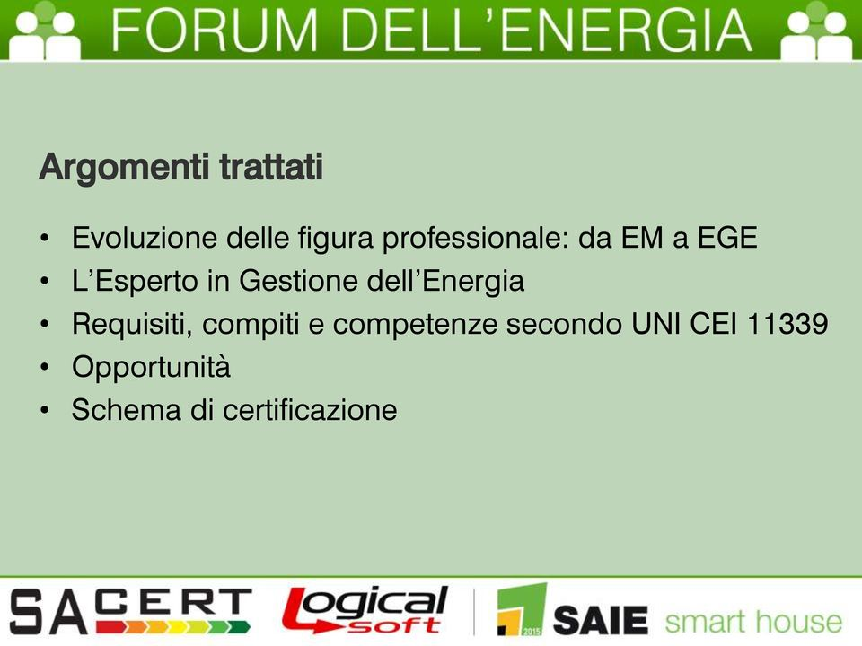 dell Energia Requisiti, compiti e competenze