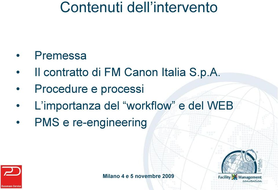 Procedure e processi L importanza del