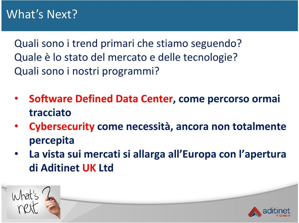 Software Defined Data Center, come percorso ormai tracciato Cybersecurity come