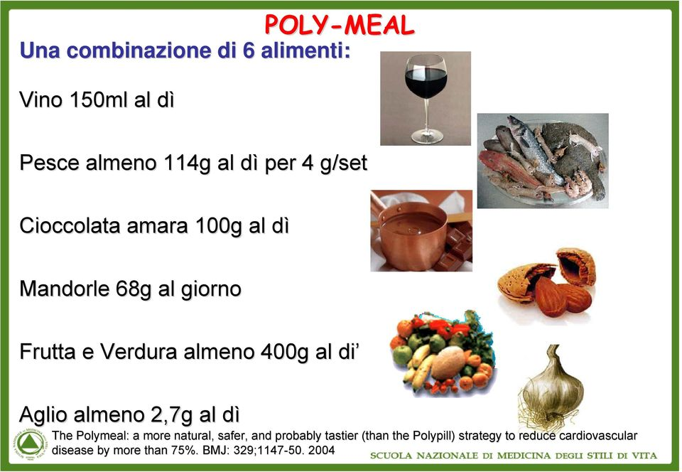 Aglio almeno 2,7g al dìd The Polymeal: : a more natural, safer,, and probably tastier (than