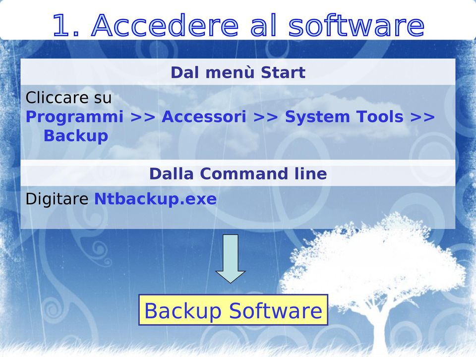 Tools >> Backup Digitare