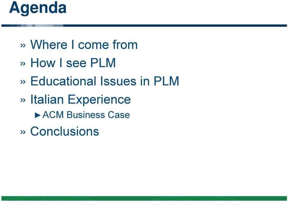 Issues in PLM» Italian