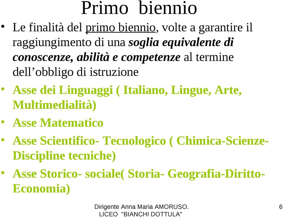Linguaggi ( Italiano, Lingue, Arte, Multimedialità) Asse Matematico Asse Scientifico- Tecnologico
