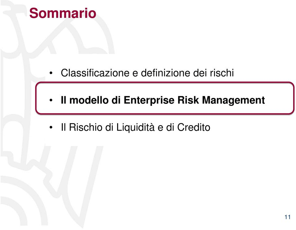 modello di Enterprise Risk