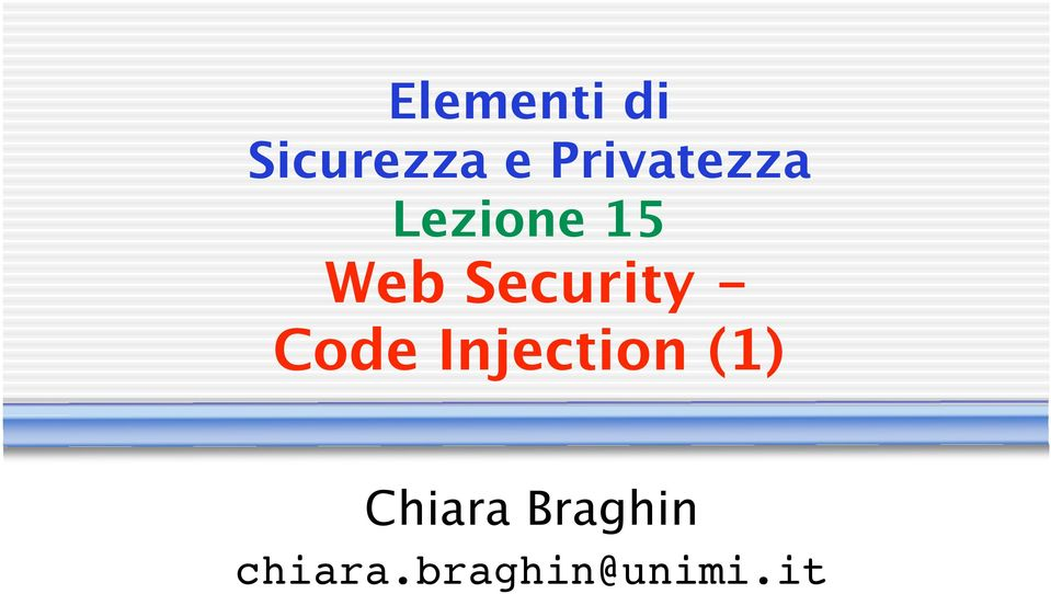 Security - Code Injection (1)