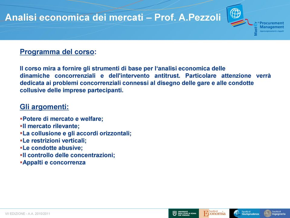 dell'intervento antitrust.