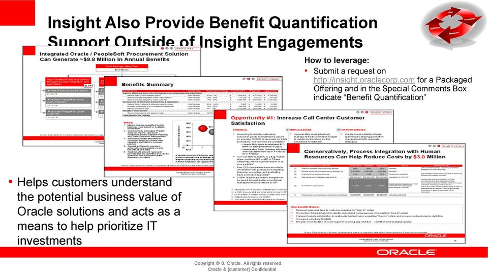 com for a Packaged Offering and in the Special Comments Box indicate Benefit Quantification Helps customers