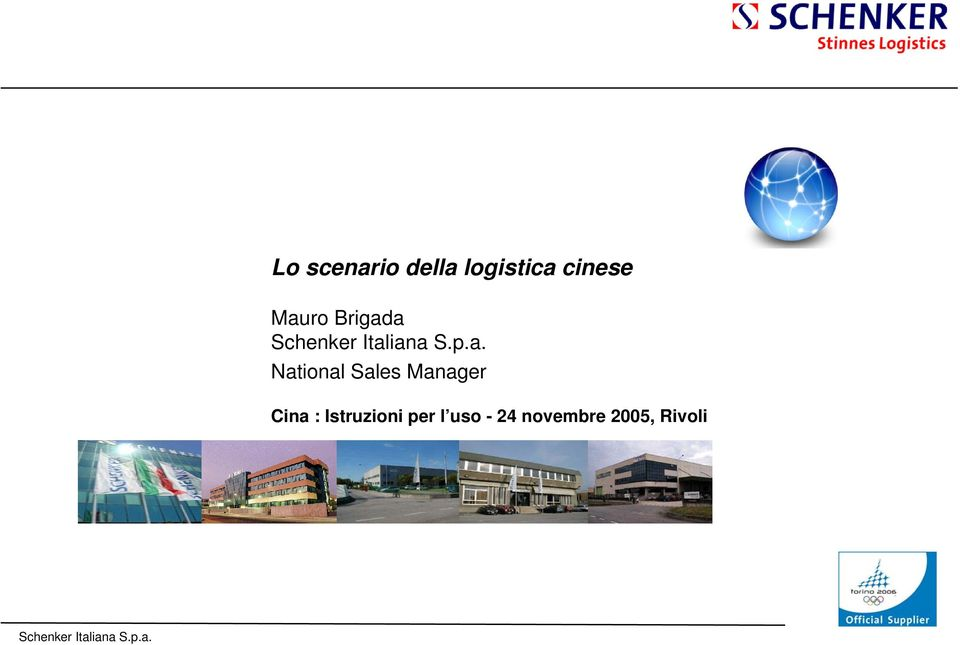 Sales Manager Cina : Istruzioni