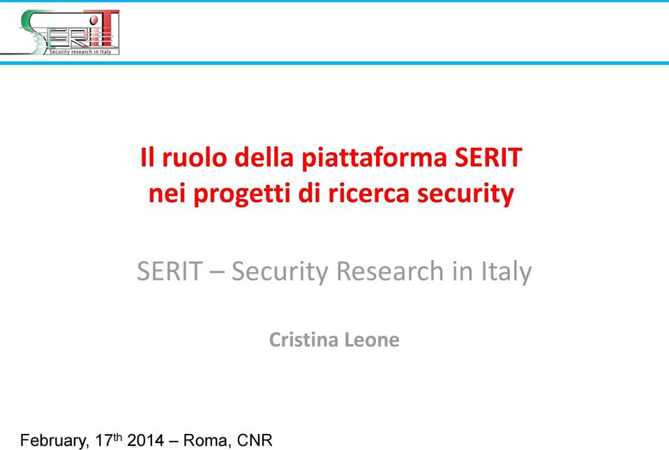 SERIT Security Research in Italy