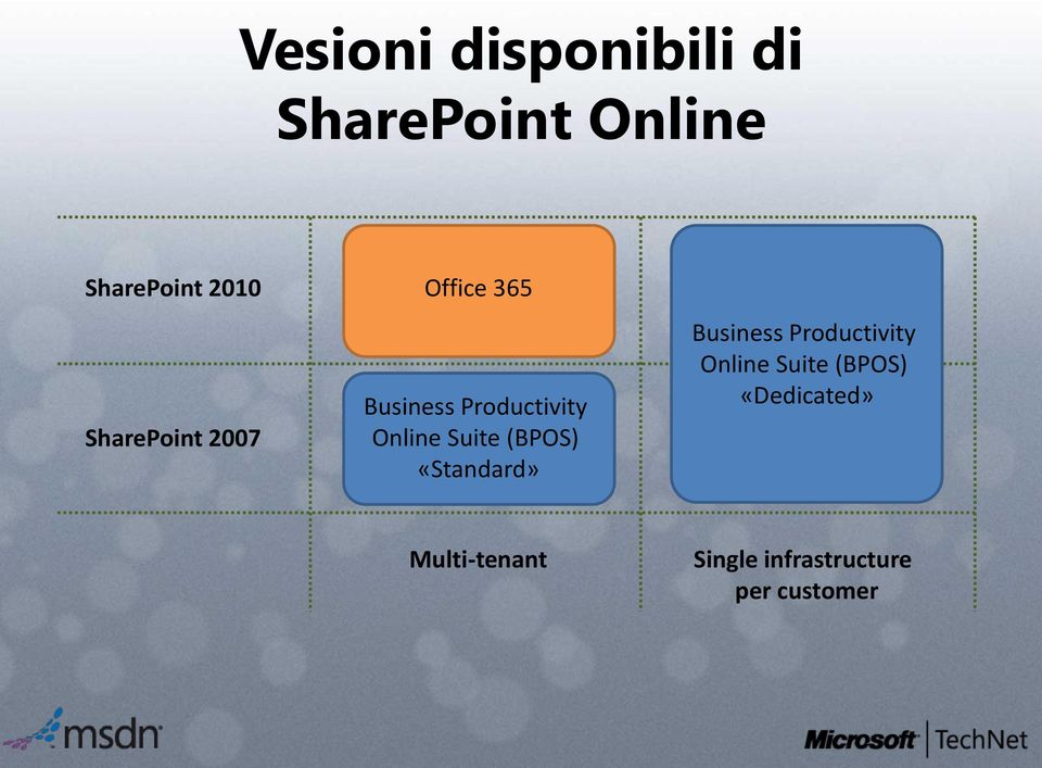 Suite (BPOS) «Standard» Business Productivity Online Suite
