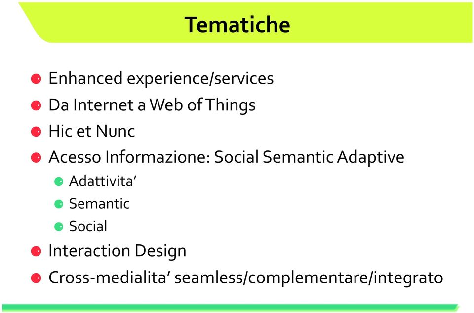 Semantic Adaptive Adattivita Semantic Social