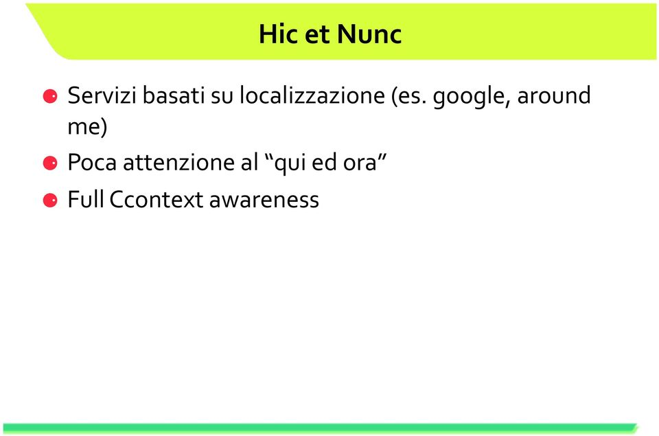 google, around me) Poca