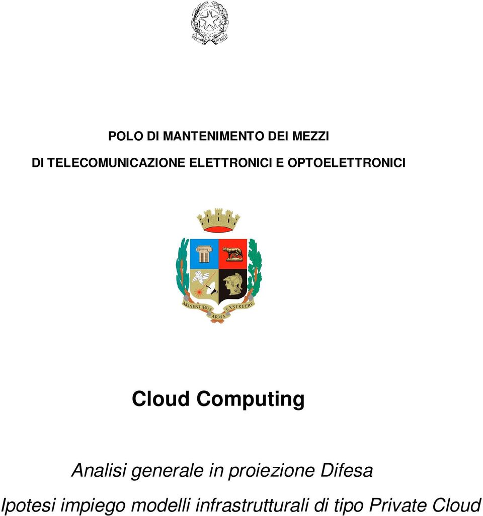 Cloud Computing Analisi generale in proiezione