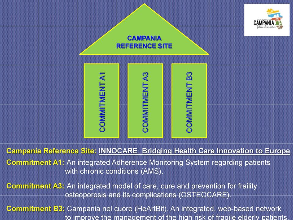 COMMITMENT B3 CAMPANIA REFERENCE SITE Campania Reference Site: INNOCARE. Bridging Health Care Innovation to Europe.