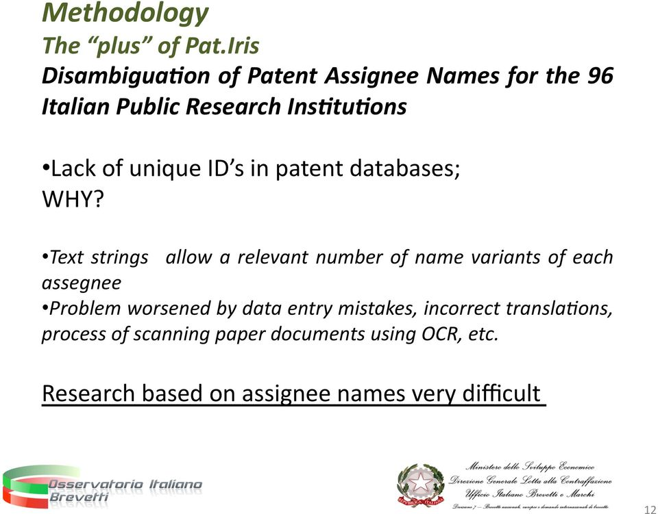 unique ID s in patent databases; WHY?