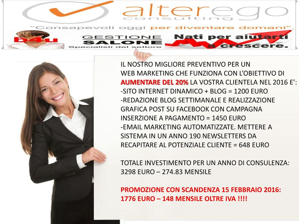 = 1450 EURO -EMAIL MARKETING AUTOMATIZZATE.