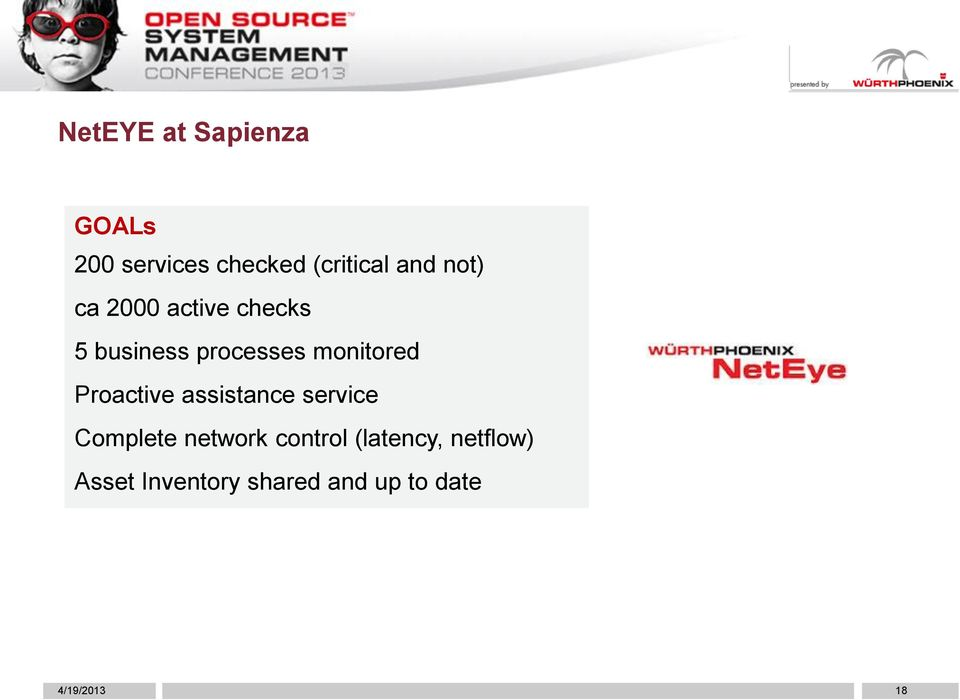 Proactive assistance service Complete network control